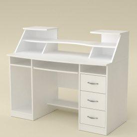 Письменный стол Компанит Комфорт-5 1268х650х756 мм ДСП белый