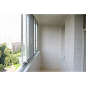 Внутренняя отделка балкона ПВХ панелями