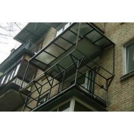 Остекление с выносом балкона