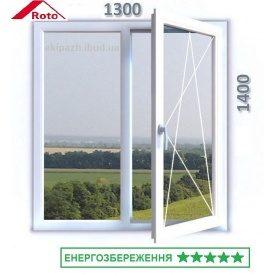 Противовзломное окно из 7-камерного профиля WDS Ultra7 1300x1400 мм с энергосберегающим стеклопакетом и фурнитурой