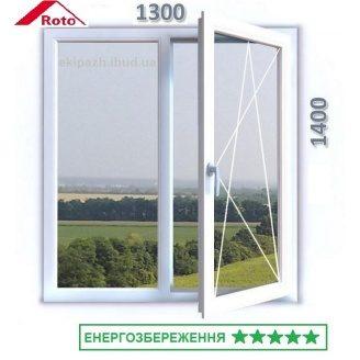 Протизламне вікно з 7-камерного профілю WDS Ultra7 1300x1400 мм з двокамерним енергозберігаючим склопакетом та фурнітурою