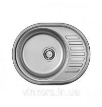 Кухонна мийка з нержавіючої сталі ULA 7112 ZS 5745 Decor 0,8 mm (11997)