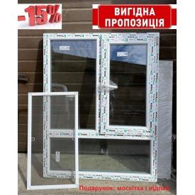 Вікно енергозберігаюче 6-камерний профіль WDS 1130х1440 мм