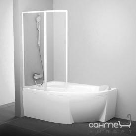 Шторка для ванны Ravak VSK2-150 L белый/прозрачное стекло 76L80100Z1 левая