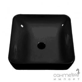 Раковина на столешницу CeraStyle One 46х46 ОР0003057 черный матовый