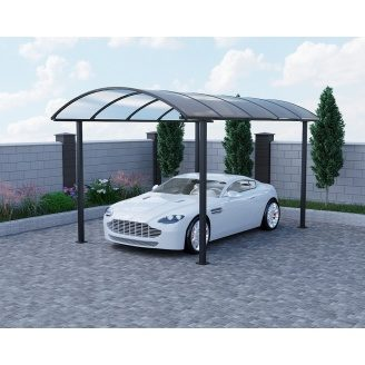Готовый навес для авто с поликарбонатом Oscar Fantom 2908х5160х2670,5мм Монолитный поликарбонат Borrex 4 мм, Порошковая краска