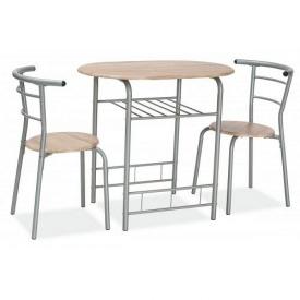 Обеденный комплект Signal Gabo стол + 2 стула