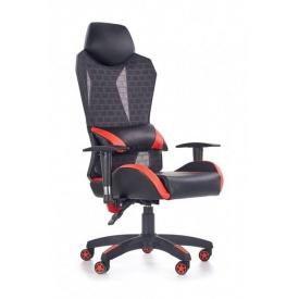 Кресло Halmar Domen Черно-красный