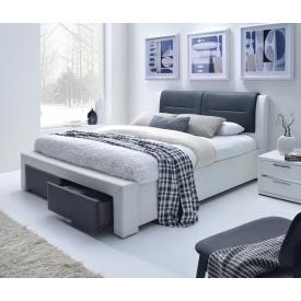 Кровать Halmar Cassandra-S 140х200 см Черно-белый