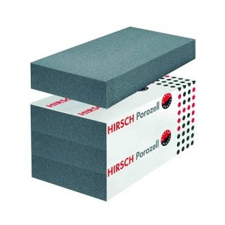 Пінопласт Хірш Порозель з додаванням графіту для будинку 17 кг/м3 100 мм