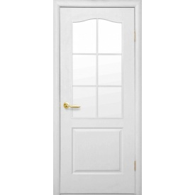 Міжкімнатні двері Сімплі зі склом сатин