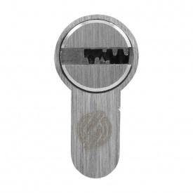 Цилиндр замка Securemme 60 (30x30т) матовый хром ключ-тумблер