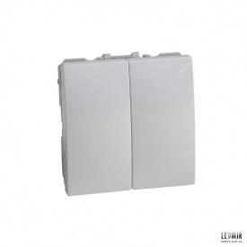 Выключатель двухклавишный Schneider Unica белый