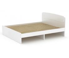 Двуспальная кровать Классика-140 Компанит 2042х1452х860 мм ДСП белая с ящиками