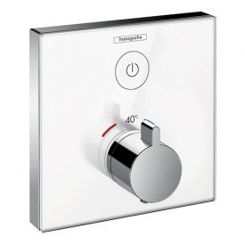 ShowerSelect Термостат для одного потребителя стеклянный СМ белый/хром