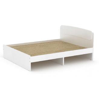 Двоспальне ліжко Класика-140 Компаніт 2042х1452х860 мм ДСП біла з ящиками