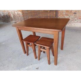 Стол кухонный массив бука тонированный Орех 1000х650