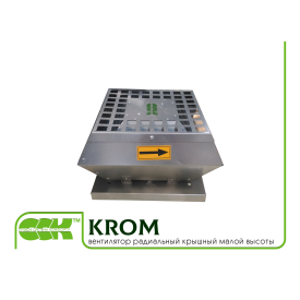 Вентилятор радиальный крышный малой высоты KROM-2,25