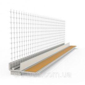 Профиль оконный примыкания 6 мм с сеткой 2,5 м