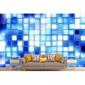 Фотошпалери 3Д блакитна мозаїка
