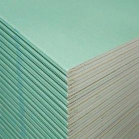 Гипсокартон влагостойкий KNAUF 9,5 мм х1,20х2,5 м