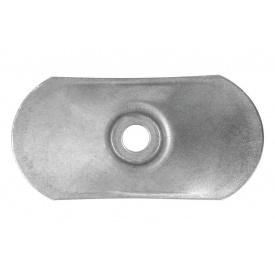 Шайба оцинкованная овальная 40х80x07 мм для крепления пвх мембран