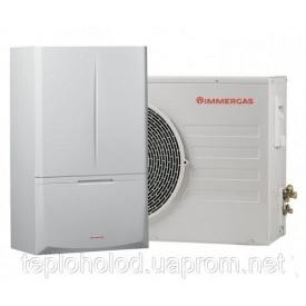 Конденсационный котел Immergas 24 кВт + Magis Combo 10 Plus тепловой насос