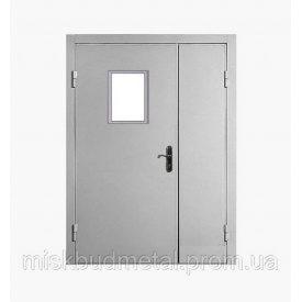 Противопожарная дверь со стеклом Міськбудметал ДМП 21-12 EI30 C 2100х1200 мм