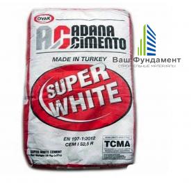 Білий цемент ADANA (OYAK) Cimento М600 25 кг (Туреччина)