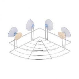 Полочка-сетка одинарная угловая Trento Pietra