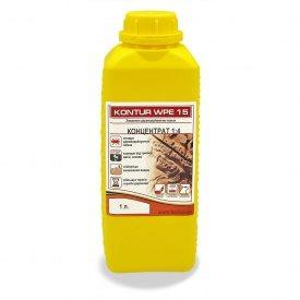Антисептик-концентрат для поврежденной древесины KONTUR WPE-15 1 л 1:4