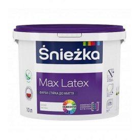 Матовая латексная краска Снежка MAX LATEX Стойкая к мытью 1,4 кг
