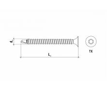 Саморез для крепления теплоизоляции к металлу GTS-B GTS-B-48050