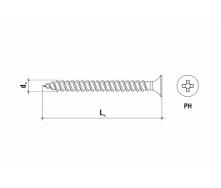 Шуруп для кріплення теплоізоляції до бетону GTHD GTHD-63060