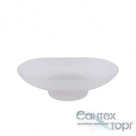 Стеклянная мыльница для ванной, матовое стекло Potato P203