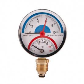 SD Термоманометр нижнього підключення 1/2 Ø80 мм 120ºC 10 бар SD17210B