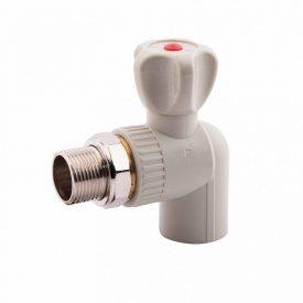 Кран Радиаторный (шаровый) угловой 25 ( Alfa Plast PPR ) ППР
