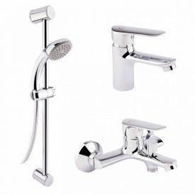 Набор 3 в 1 Q-tap Set 35-211 CRM для умывальника, ванна, стойка картридж 35 мм