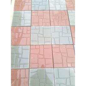 Плитка тротуарная Галька глянцевая 300x300x30 мм