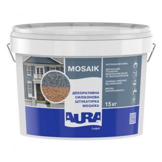 Декоративная силиконовая штукатурка Aura Luxpro Mosaik M10 – «зерно» 1,0 мм и Mosaik M15 – «зерно» 1,5 мм