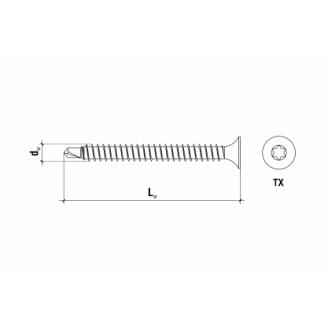 Саморіз для кріплення теплоізоляції до металу GTS-B GTS-B-48050