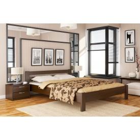 Деревянная кровать Рената с технологией массив из бука 140x190 с 4 см между ламелями тёмный орех (101)