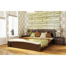 Деревянная кровать Селена Аури с технологией массив из бука 160x190 с 4 см между ламелями тёмный орех (101)