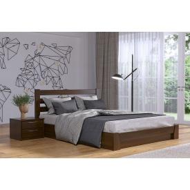 Деревянная кровать Селена с технологией массив из бука 140x200 с 4 см между ламелями тёмный орех (101)