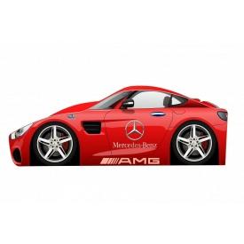 Кровать-машинка Mercedes AMG Бренд 70x140 без подъемного механизма основой из ДСП без ящиков