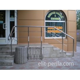 Огородження з нержавіючої сталі з велопарковкой