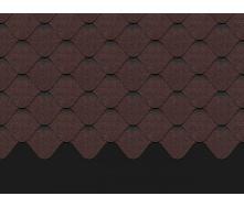 Бітумна черепиця Docke PIE PREMIUM НІЦЦА 1000х318х3,1 мм какао