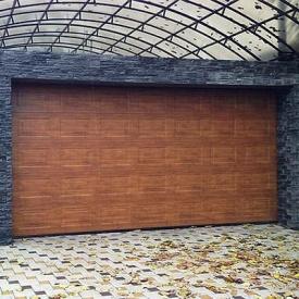 Гаражные секционные ворота под навес ALUTECH Trend 2625х2250 мм
