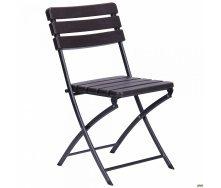 Металлический стул АМФ Даймлер YC-043 складной 820х460х560 мм пластик Wooden Brown