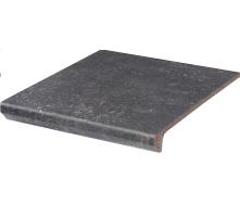 Клінкерний східець з капі носами Paradyz Viano antracite prosta struktura 30x33 см